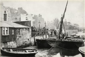 Coal Barges at Chelsea Reach 1860's