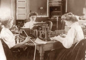 telegraph operators circa 1908